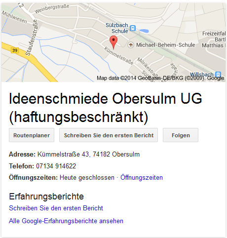 Google-Places-Ergebnis